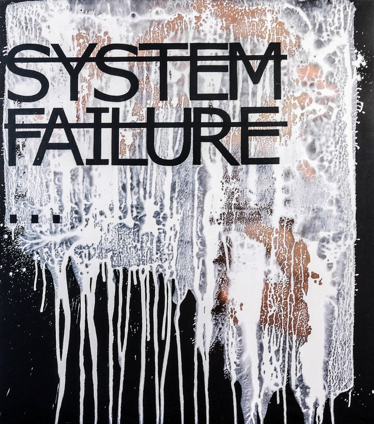 Rero, Untitled (SYSTEM FAILURE...) | Mixed media on canvas | 63 x 55 in