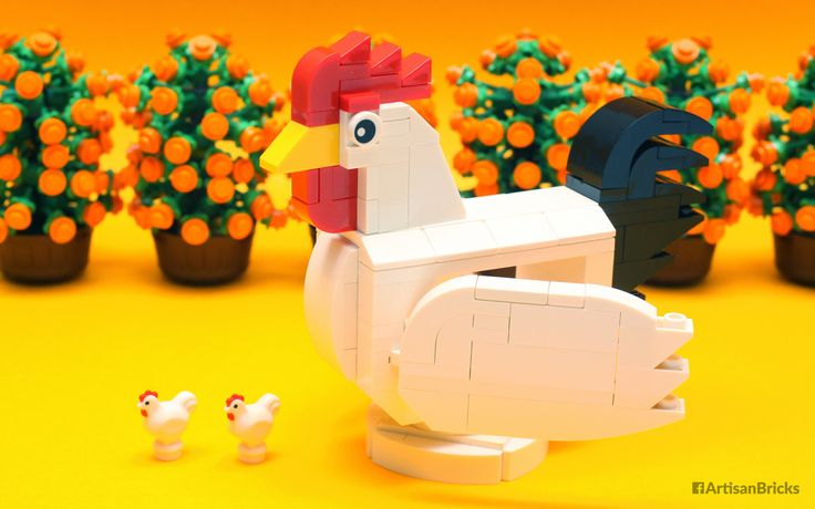 https://flic.kr/p/QLfhxY | Artisan Bricks by Jeffrey Kong - LEGO Year of the Rooster CNY 2017 - Upsized with Storage Opening Wings and Turntable Base | Many folks have gained some weight from all that Chinese New Year feasting, and so has this rooster by Artisan Bricks – the wings open to reveal storage space in an upsized body that rests on a turntable base. May your year be filled with joy and good health! Thanks to Brickfinder for the kumquat. :) #functional #rooster #cny #lego…