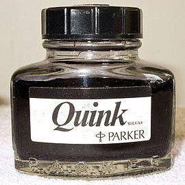 Parker black Quink ink