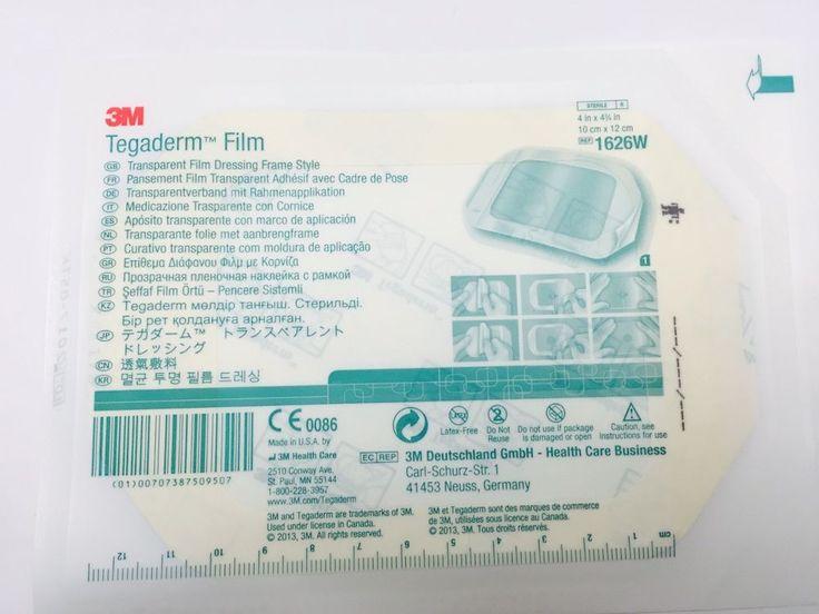 3M Tegaderm Transparent Dressing Frame 1626W 4inX4in Box of 50SH #3M