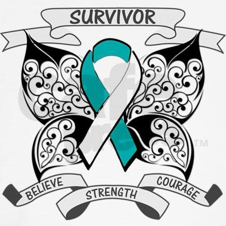 Survivor Cervical Cancer Hooded Sweatshirt - LOVE!!  Ordered tonight!!