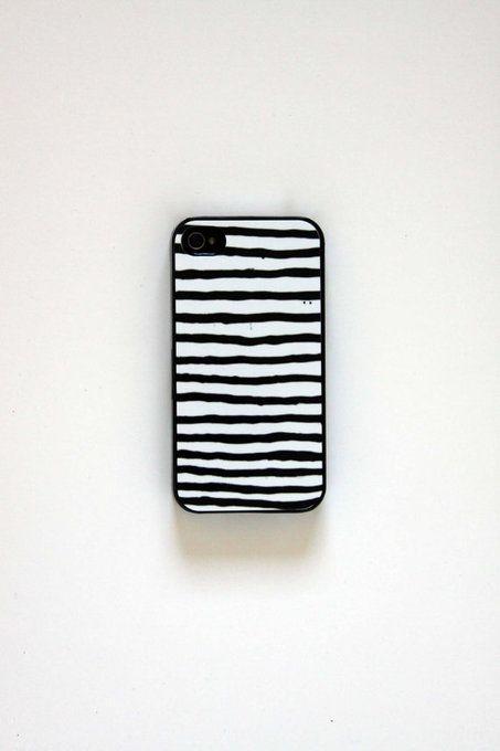 uneven black lines iPhone 5 Case by ScribblesandStripes