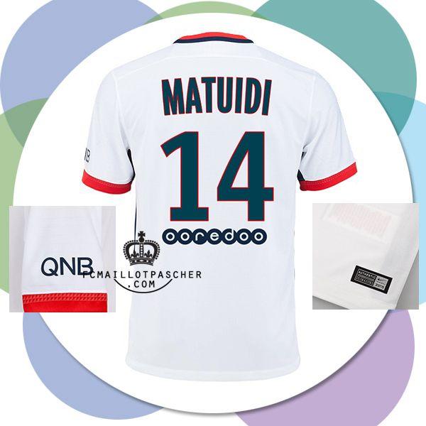 Site Officiel maillot PSG 2016 Extérieur MATUIDI personnalisé en ligne