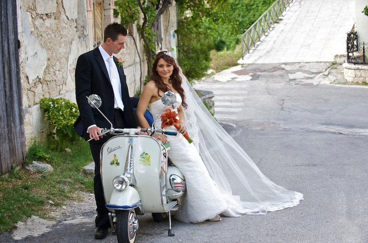 #Vespa Wedding in Italy