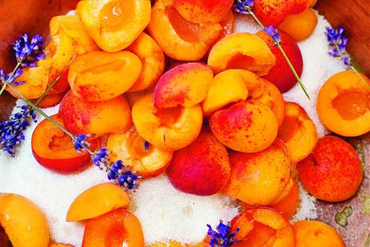 Apricot and lavender jam recipe from http://www.lovefood.com/guide ...