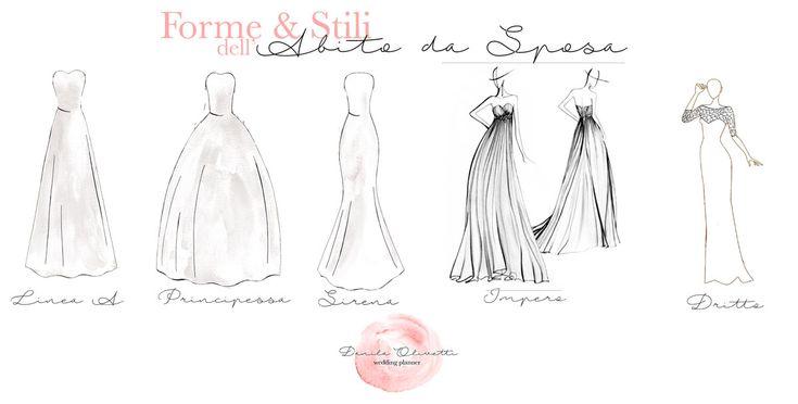 Guida allo stile e alle forme dell'abito da sposa