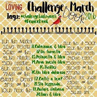Febbraio non è stato un mese facile dal 24 abbiamo un angelo custode in più  Non abbiamo potuto portare a termine la challenge del mese scorso ma siamo pronte per ripartire o almeno ci proviamo... con la #challengebookmarch di @fenicebook