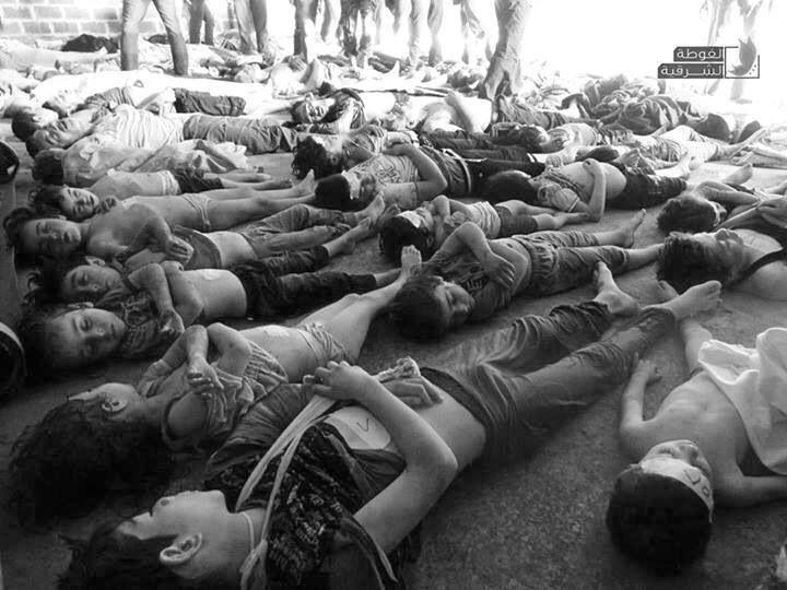 #Syrian-children killed by Sarin gas 21/8/2013