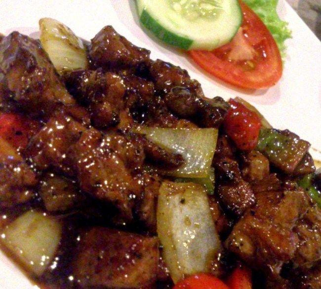 Semur daging sapi lada hitam