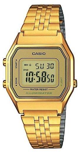 ¡Oferta! Reloj Casio Collection LA680WEGA-9ER con correa de acero inoxidable color dorado por sólo 37 euros.