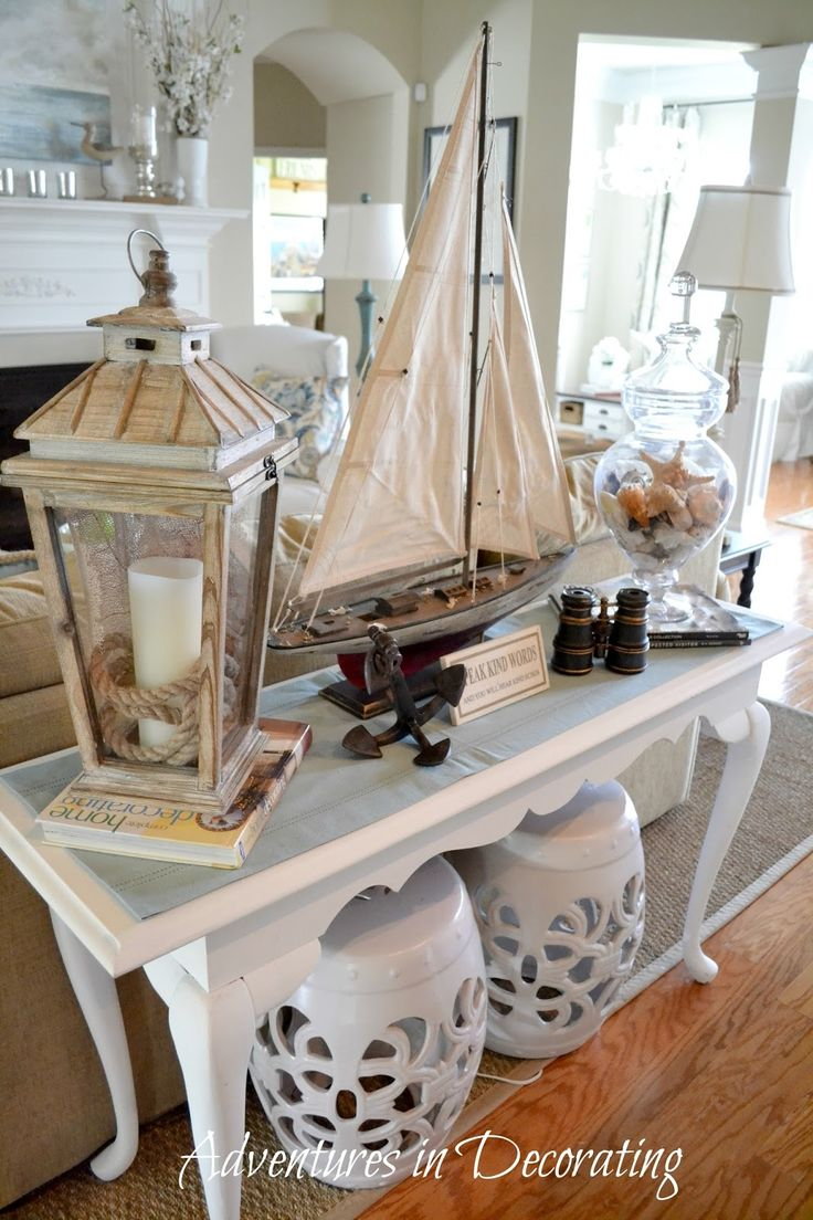 Coastal decor living room - How I Found My Style Sundays Adventures In Decorating