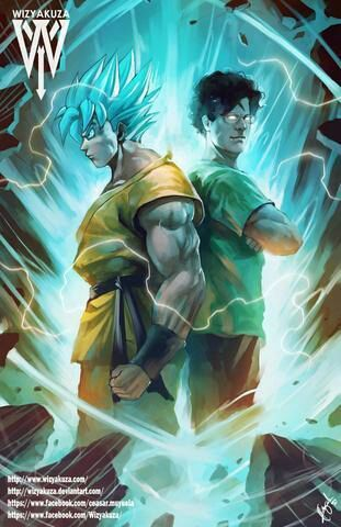 Goku and his English voice actor