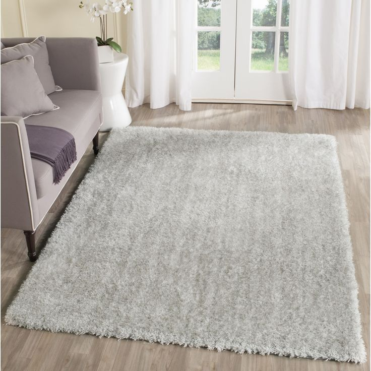 safavieh toronto handmade ivory light grey shag rug 4u0027 x 6u0027