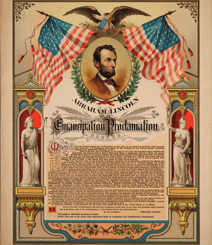 Jan 01, 1863... U.S. President Lincoln signed the Emancipation Proclamation, which declared that all slaves in the rebel states were free.