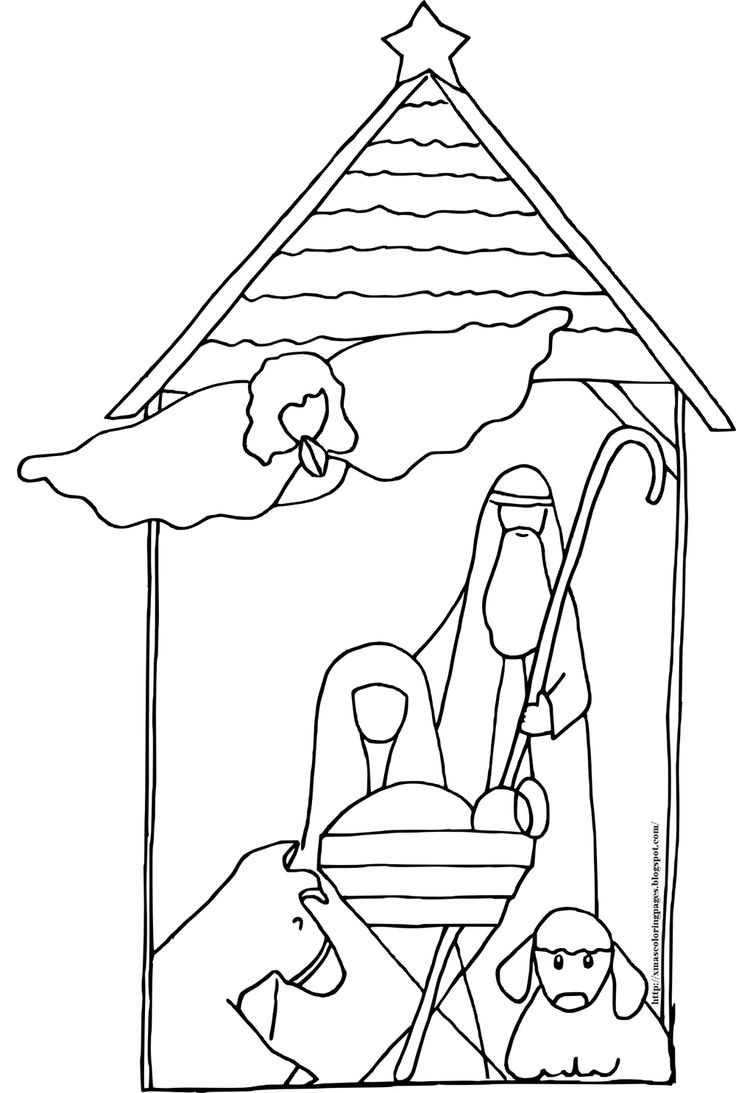 Coloring pages furniture - Nativity Coloring Sheets Baby Jesus Coloring Page Nativity