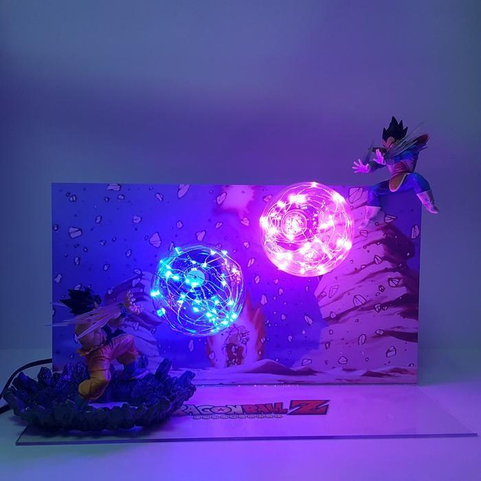 Goku Kamehameha Wave Vegeta Final Burst Cannon Flash Ball Diy 3d Led Light Lamp Dbz Dragonball Lamp Anime Dragon Ball Super Anime Dragon Ball Dragon Ball