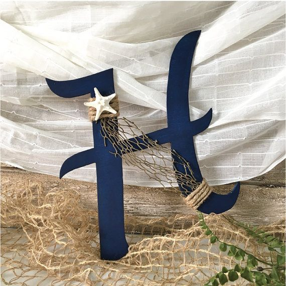 Nautical Letters Nautical Wedding Decor Hand by ThePaintedPearlSRQ