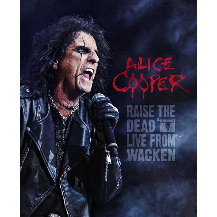 """L'album di #AliceCooper intitolato """"Raise the dead - Live from Wacken """" su doppio CD e disco blu-ray."""