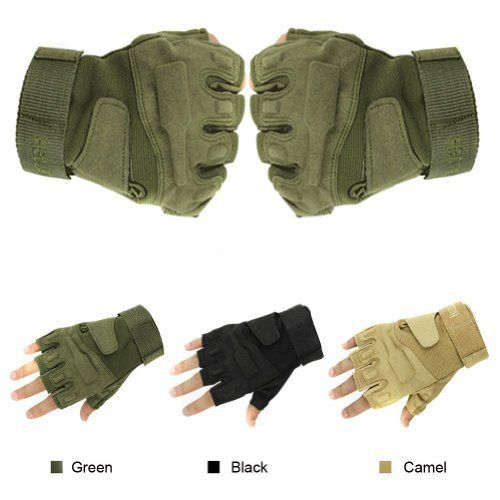 Eforstore Military Outdoor Sports Half-finger Fingerless Tactical Airsoft Fishing Gym Hunting Riding Cycling Gloves for Men Women - http://ridingjerseys.com/eforstore-military-outdoor-sports-half-finger-fingerless-tactical-airsoft-fishing-gym-hunting-riding-cycling-gloves-for-men-women-2/