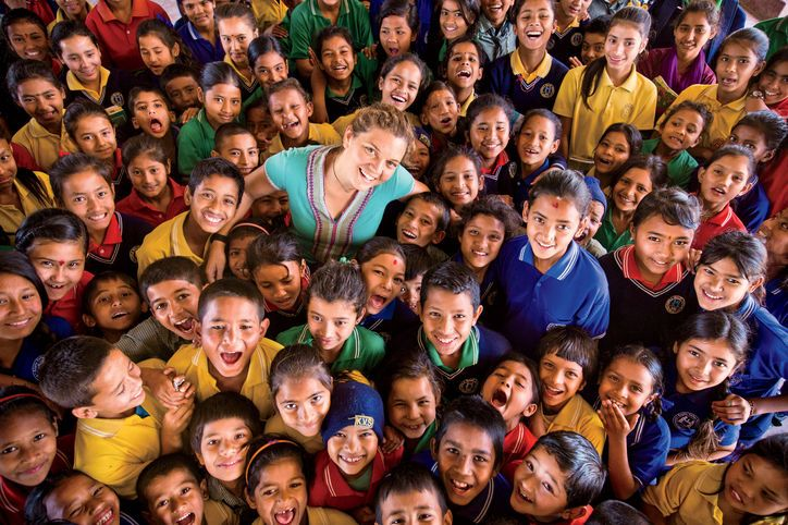 Ten years ago, at age 18, Maggie Doyne traveled to Nepal—and, shocked by the poverty she saw, decided to spend her $5,000 life savings to build an orphanage there. Now 28, she is the legal guardian of 50 boys and girls, runs a school for 350 students in the country, and has launched a women's center, all through her charity, BlinkNow.