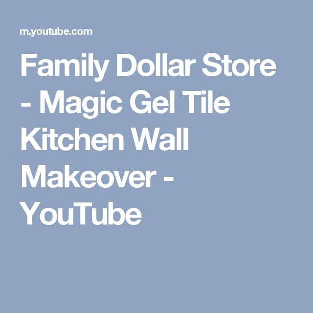Magic Gel Tile Kitchen Wall Makeover