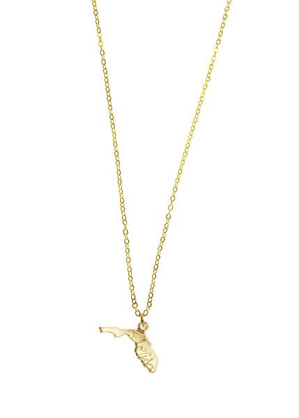 gold plated necklace- florida