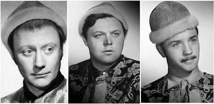 Миронов, Невинный и Куравлев - претенденты на роль Милославского в фильме «Иван Васильевич меняет профессию». В итоге сыграл Куравлев.