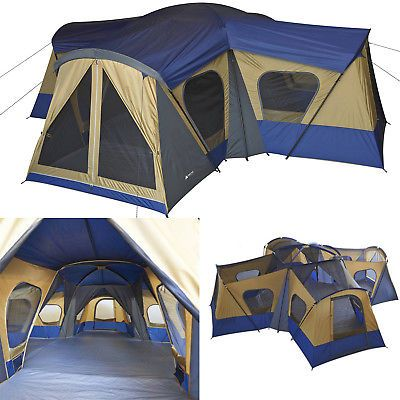Large Family Camping Tent 14-Person Travel Outdoor Shelter ...