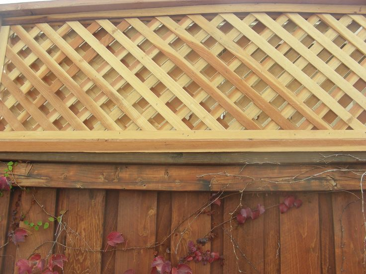 Custom Double Lattice Fence Topper For Customer Approx Toppers