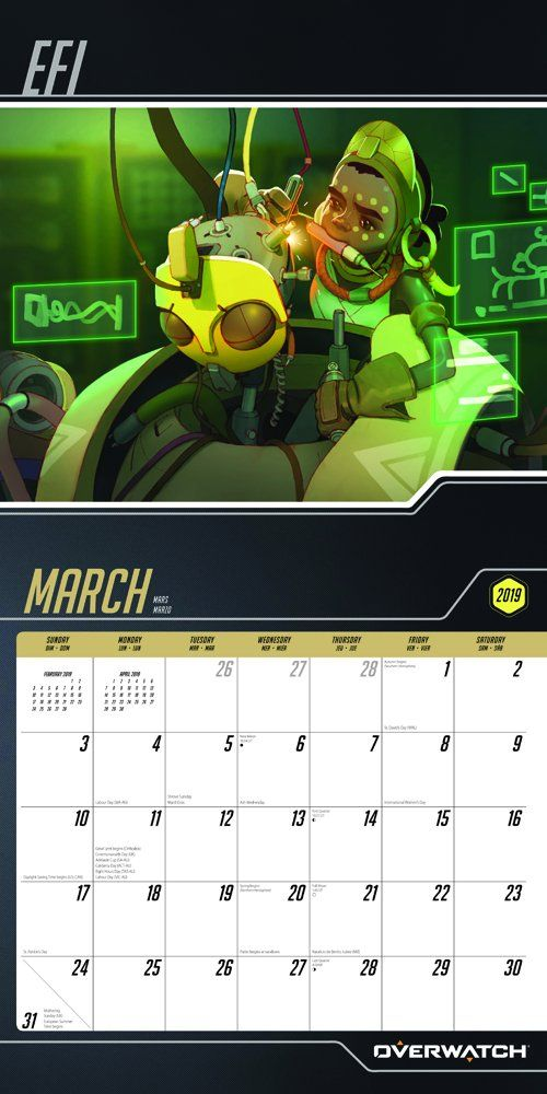 overwatch 2019 12 x 12 inch monthly square wall calendar video game multiplayer shooter blizzard entertainment multilingual edition