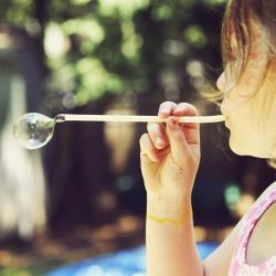 Use simple household items like a Straw to create Bubbles w/ Homemade Bubble solution recipe.