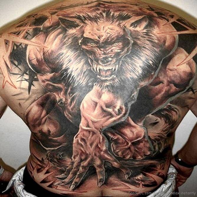 www.tattoonexus.com #tattoo #tattoos    Back piece ~ wolf