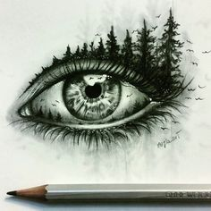 15+ Pencil Drawings of Eyes, Fineart, Pencil Drawings, Sketches ...