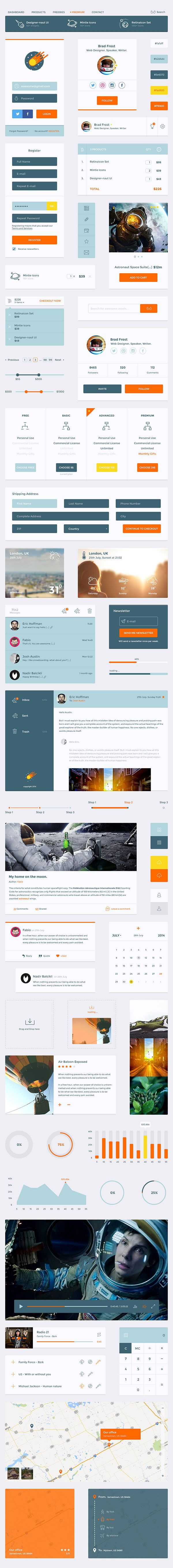 Designer-naut UI Kit | GraphicBurger