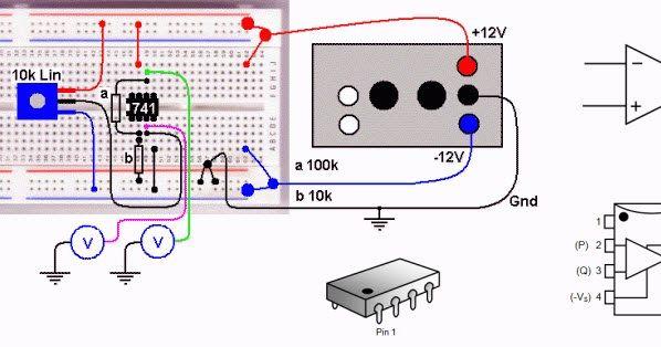 15 دائرة الكترونية تنفيذها عمليا باستخدام Op Amp مكبرات العمليات Electronic Bubble Circuit Projects Electronic Circuit Projects Electronics Circuit