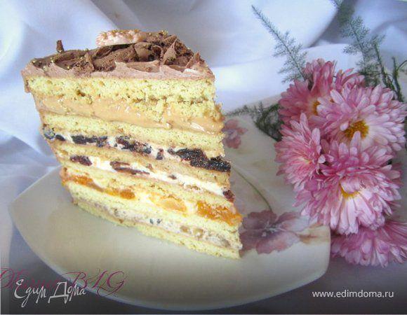 """После своего небольшого """"отпуска"""" ) пришла к вам с тортиком!) Который хоть и готовила давненько, но не могу не поделиться, так как он очень вкусный и очень простой в приготовлении! А еще изменив л..."""