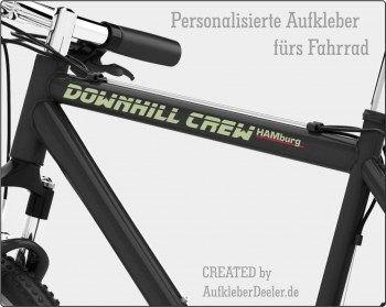 Personalisierte Aufkleber fürs Fahrrad