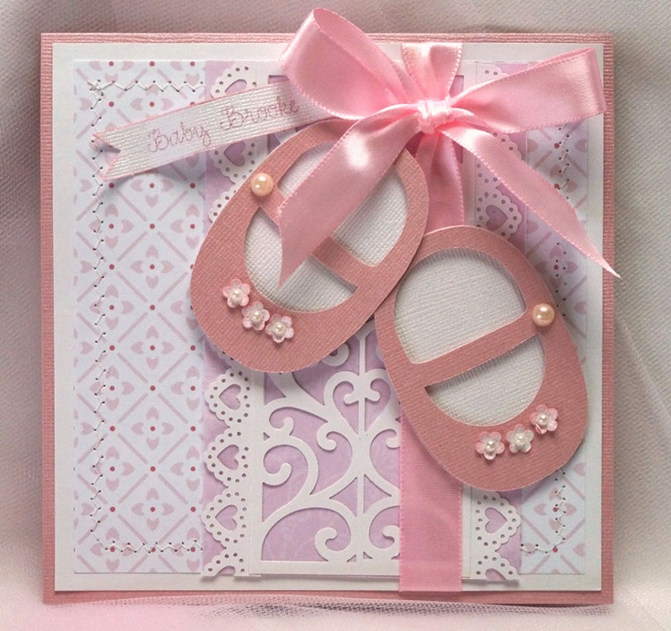 Baby Card Making Ideas Part - 48: Baby Shoe Card - So Cute!