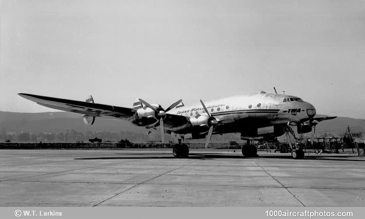 """Lockheed 049 Constellation (NC86517) Trans World Airlines """"Star of Tripoli"""" - pictured at San Francisco in 1946"""