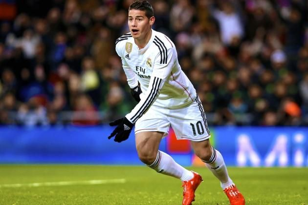#8 James Rodriguez - $25.4 million. Youngster James David Rodriguez Rubio is a Columbian attacking midfielder or winger that plays for Real Madrid. He had a great World Cup outing in 2014 that showcased his unique skill set and talents, leading to the Spanish club snatching him up quickly.