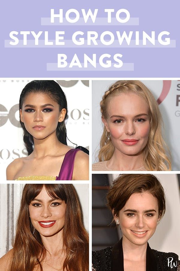 6 Ways To Style Bangs During Grow Out Growing Out Bangs How To Style Bangs Plaits Hairstyles