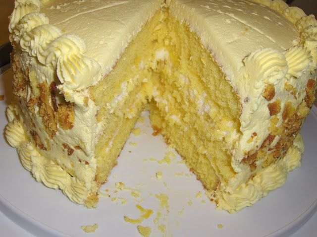 Lemon Cake with Lemon Filling and Lemon Butter Frosting Recipe of today Recipe of today