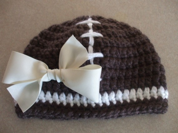 Cute! :): It A Girls, Girls Attachment, Football Beanie, Bows If, Detached Bows, Girls Someday