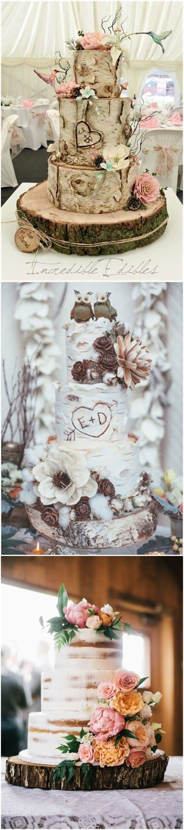 Country wedding cakes pictures - 22 Rustic Tree Stumps Wedding Cakes For Your Country Wedding