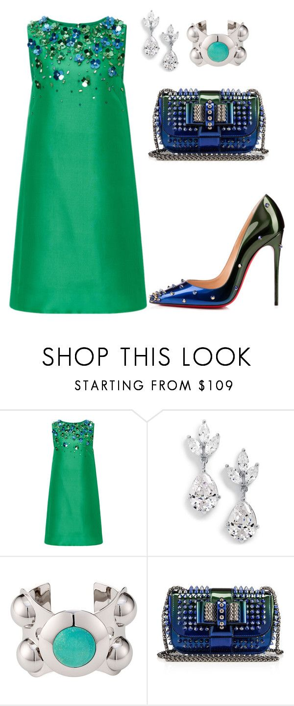 helia's style theory by heliaamado on Polyvore featuring Monique Lhuillier, Christian Louboutin, Samantha Wills and Emilio Pucci