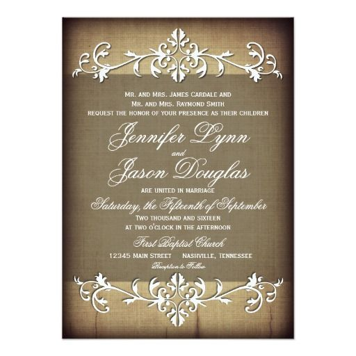 Rustic Scroll Design: 243 Best Country Rustic Wedding Invitations Images On