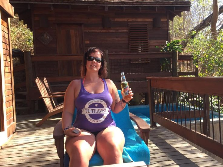 TL Traveler Carmen Enjoys A Beer On The Deck Of Her Luxury Tree-House In Nicaragua!