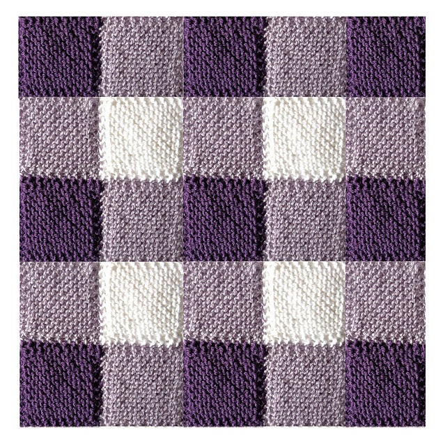 Knitting Quilt Stitch : Ravelry blanket square diagonal garter stitch pattern by