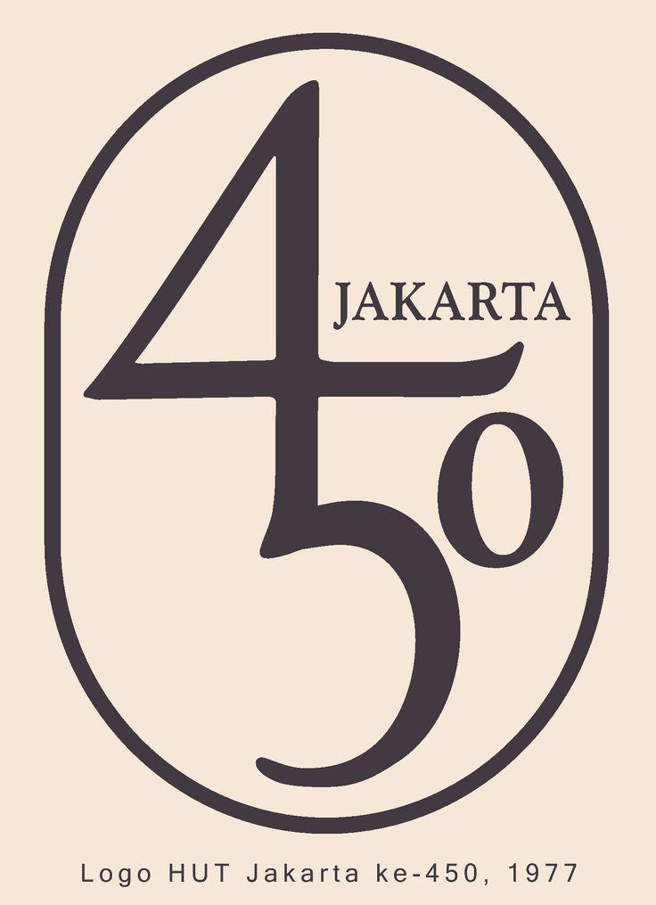 Logo HUT Jakarta ke-450 - Priyanto Sunarto - 1977