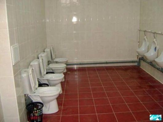 Vous voulez faire des économies dans l'installation de vos toilettes ? Que pensez vous de ce type d'aménagement sanitaire mixte ?